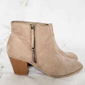 Express Taupe Tan ankle booties